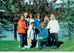 35+ years later -   Standing - Fern Derie, Nancy Erickson, Robin Laurence, Jerol Shier, Mary Lou Seraphim, Barb Love.